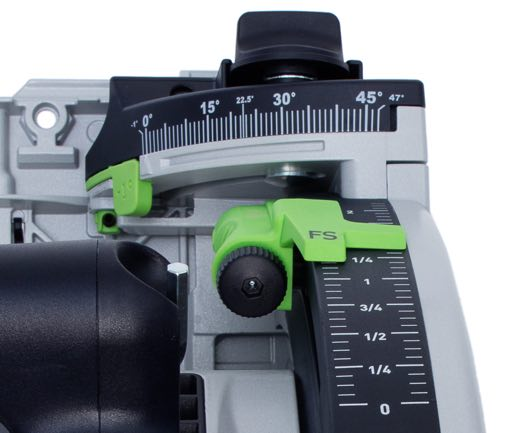 Festool TS55 Imperial Scale Closeup