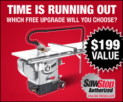 SawStop April Rebate